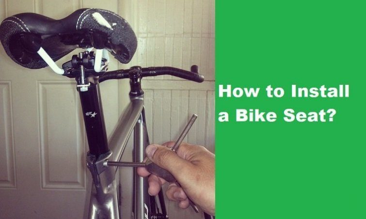 how to install a bike seat