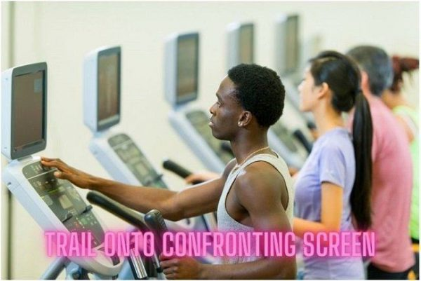 Trail onto confronting screen